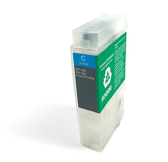 [RCS-R3000-V2-C] 60ml Refillable Cartridge, Auto-Reset Chip - R3000 -  Cyan