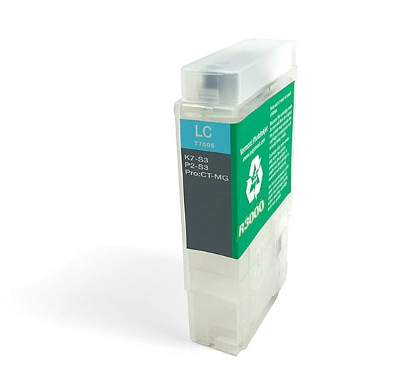 [RCS-R3000-V2-LC] 60ml Refillable Cartridge, Auto-Reset Chip - R3000 -  Light Cyan