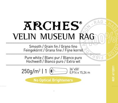 "Arches Velin Museum Rag 250gsm - 36"" x 50'"