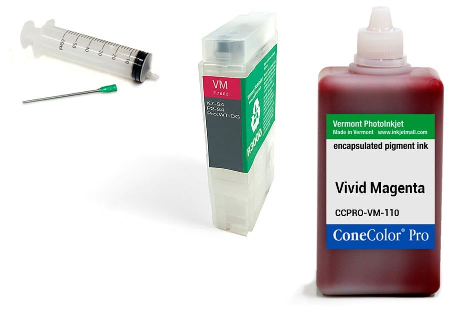 ConeColor Pro 110ml Ink & R3000 Refillable Cartridge, Vivid Magenta