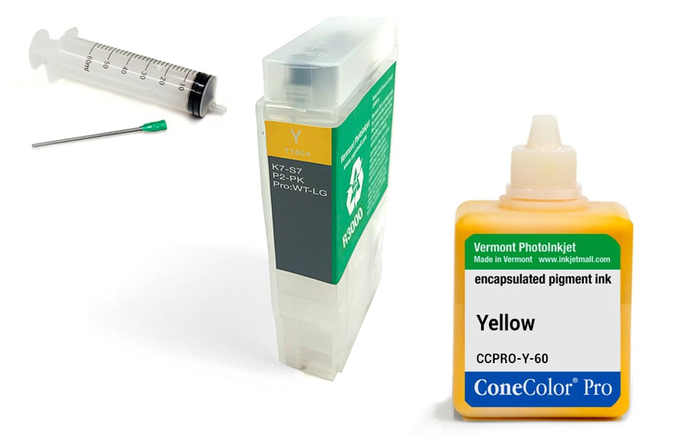ConeColor Pro 60ml Ink & R3000 Refillable Cartridge, Yellow