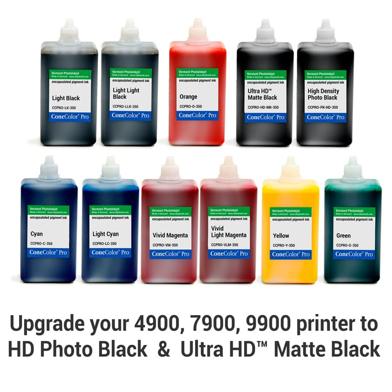 ConeColor Pro HDR, Set of 11 Inks, (HD Enhanced) 350ml