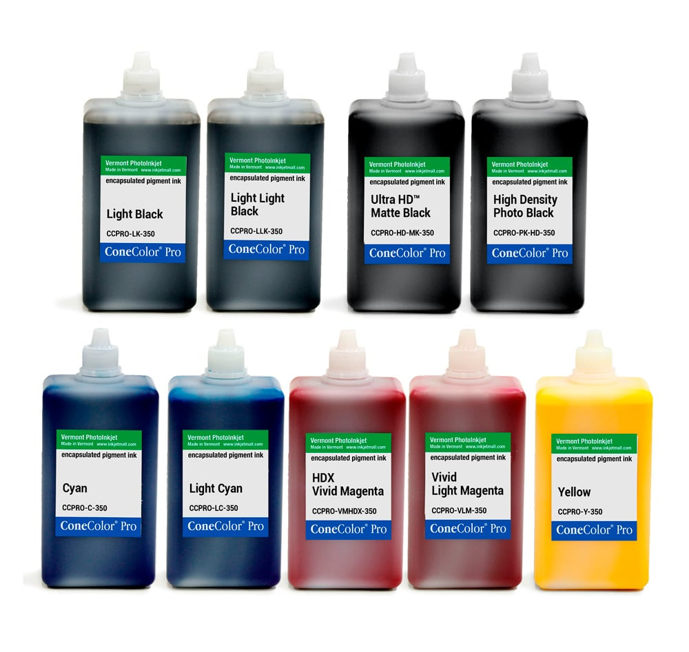 ConeColor Pro HDX, Set of 9 Inks, 350ml