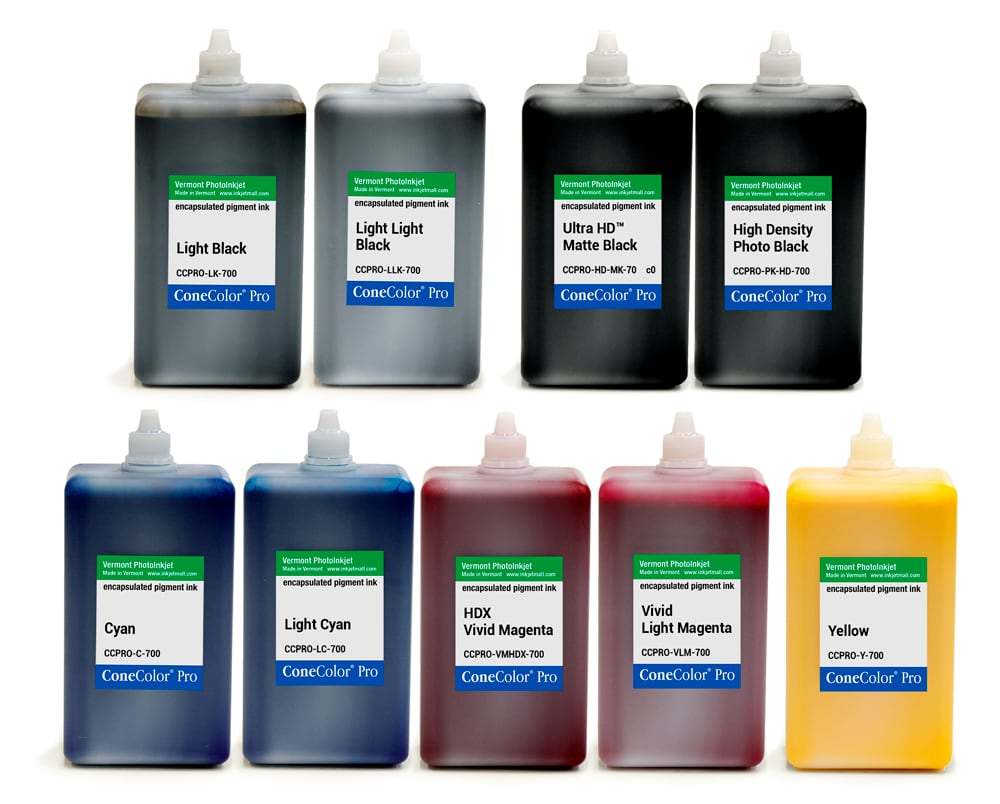 [CCPRO-HDX-700-SET9] ConeColor Pro HDX, Set of 9 Inks, 700ml