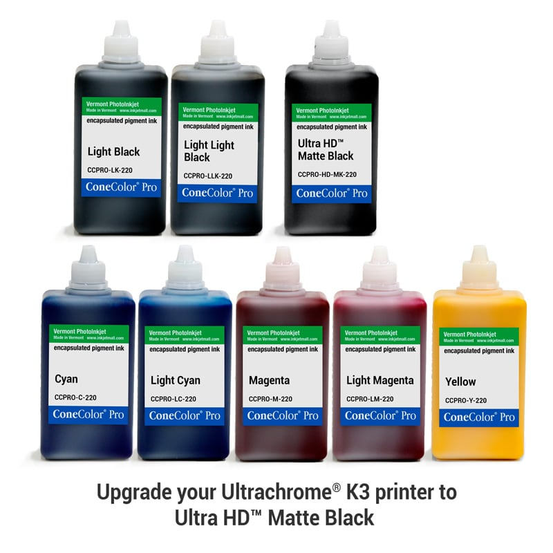 ConeColor Pro K3, Set of 8 Inks, (UltraHD™ MK), 220ml