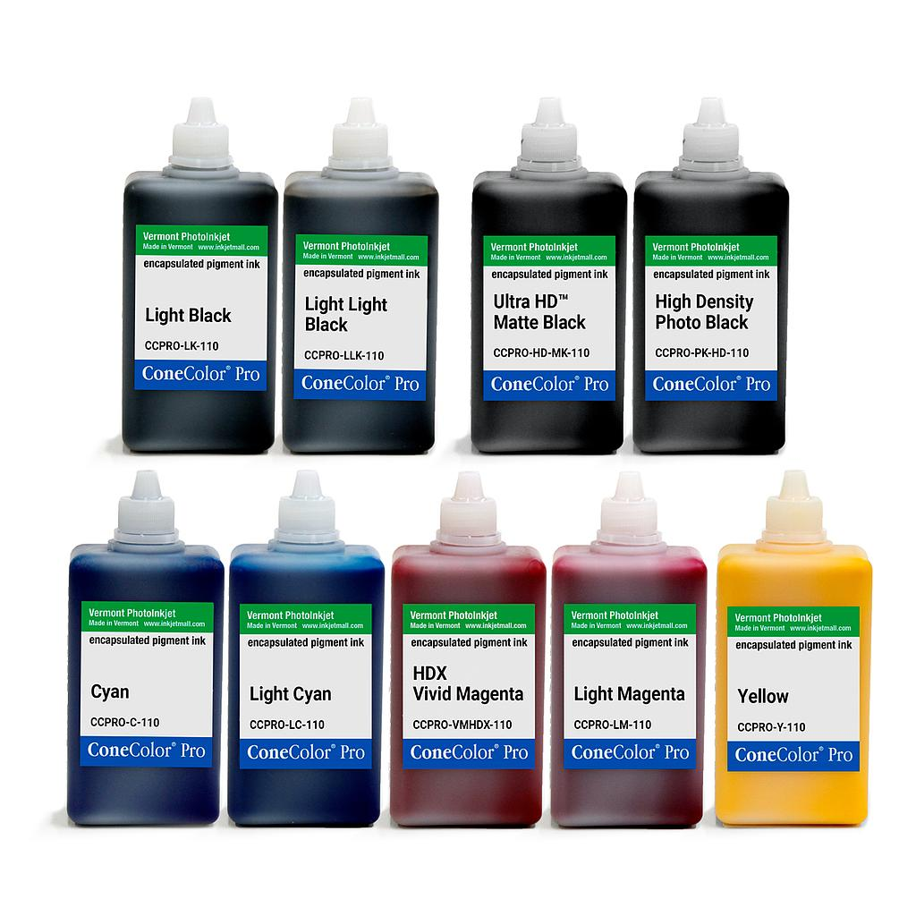 ConeColor Pro K3, Set of 9 Inks, (HD Enhanced), 110ml