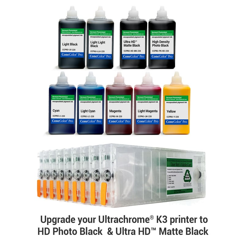 [CCP-HD-7800-220-KIT9] Pro 7800, 9800 - ConeColor Pro HD archival color ink system, 220ml