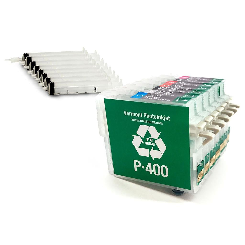 Refillable Cartridge - Epson P400 - Set 8 with syringes