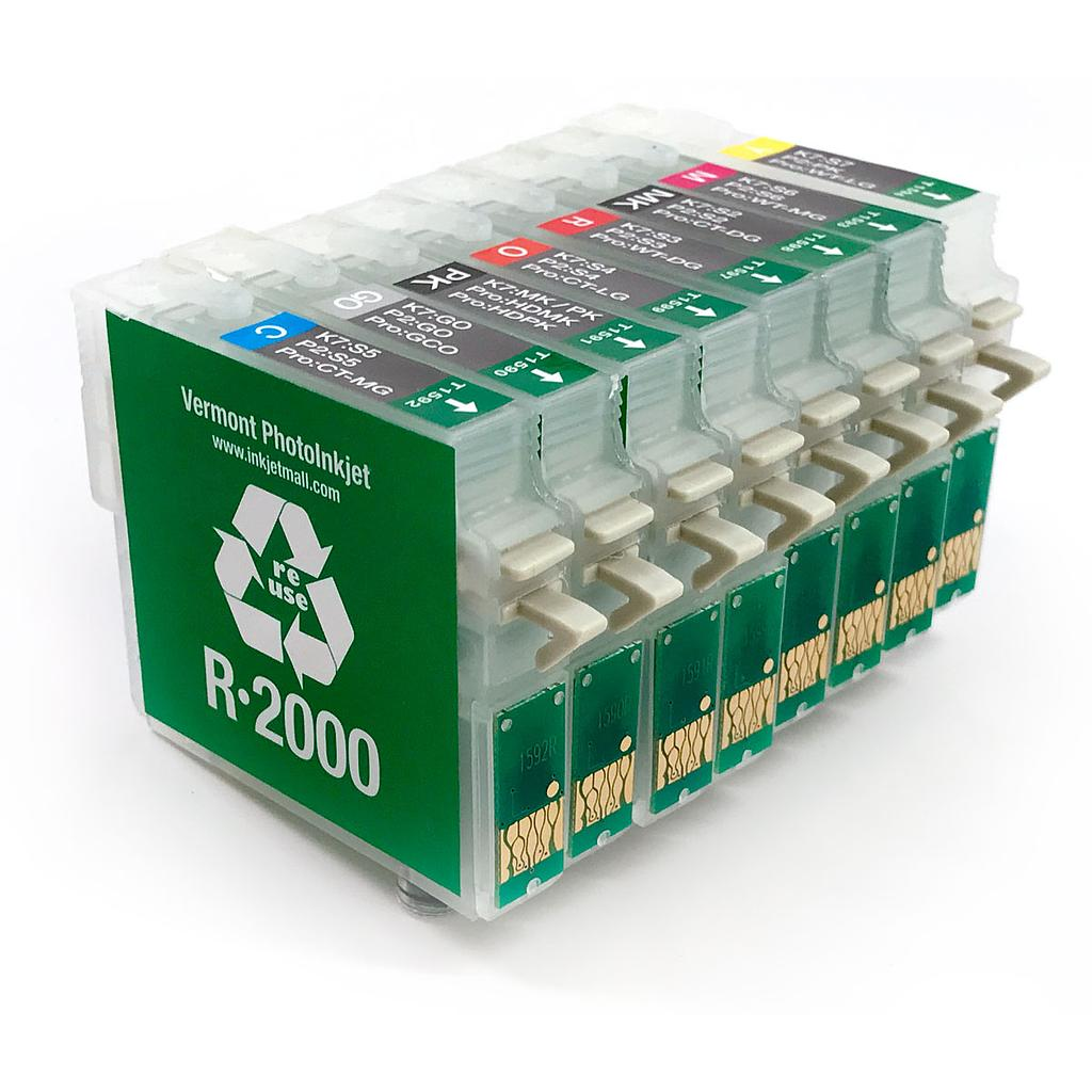 Refillable cartridge - Epson R2000 - Set 8