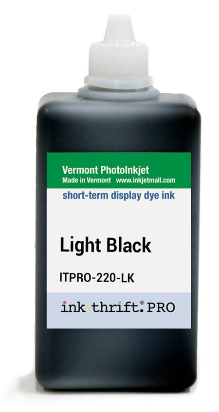 [ITPRO-220-LK] InkThrift Pro dye ink - 220ml - Light Black