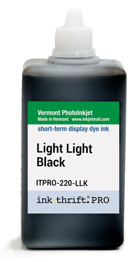[ITPRO-220-LLK] InkThrift Pro dye ink, 220ml, Light Light Black