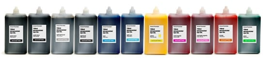 InkThrift Pro dye ink, 700ml bottles, Set of 11 colors