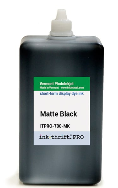 InkThrift Pro dye ink, 700ml, Matte Black