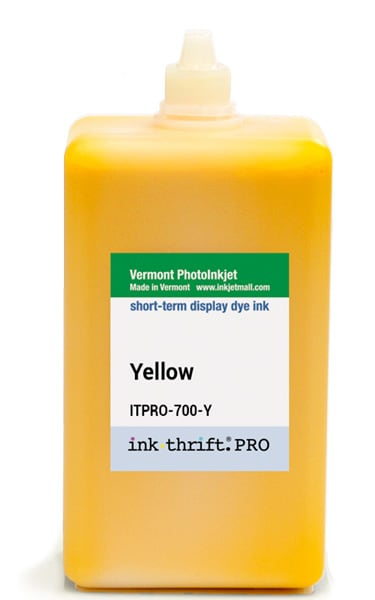 InkThrift Pro dye ink, 700ml, Yellow (K3)