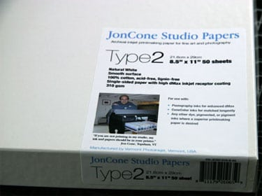 [PS-JCS2-08-50] JonCone Studio® Type2 310gsm - 8.5 x 11 - 50 sheets