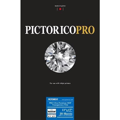 [FILM-ULTRAOHP-1117] Pictorico Ultra Premium OHP film 11x17 20 sheets