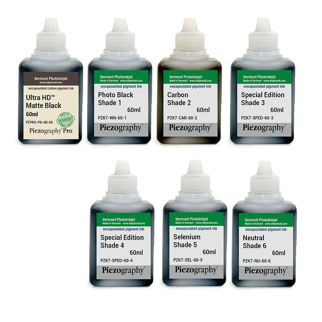 Piezography K6, Special Edition Tone, 60ml, Set of 7 Inks (PiezoDN and HD Matte printing)