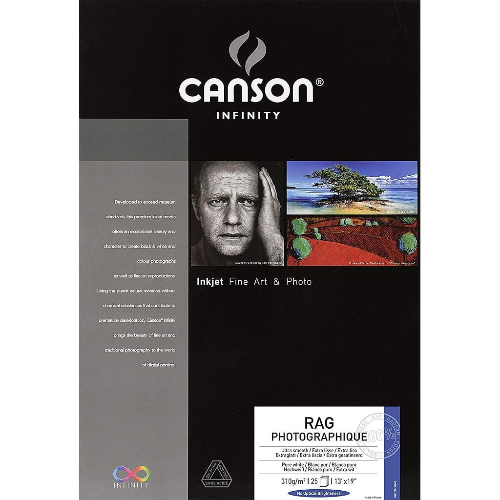 [3148952110488] Canson Rag Photographique 310gsm 13 x 19 25 sheets