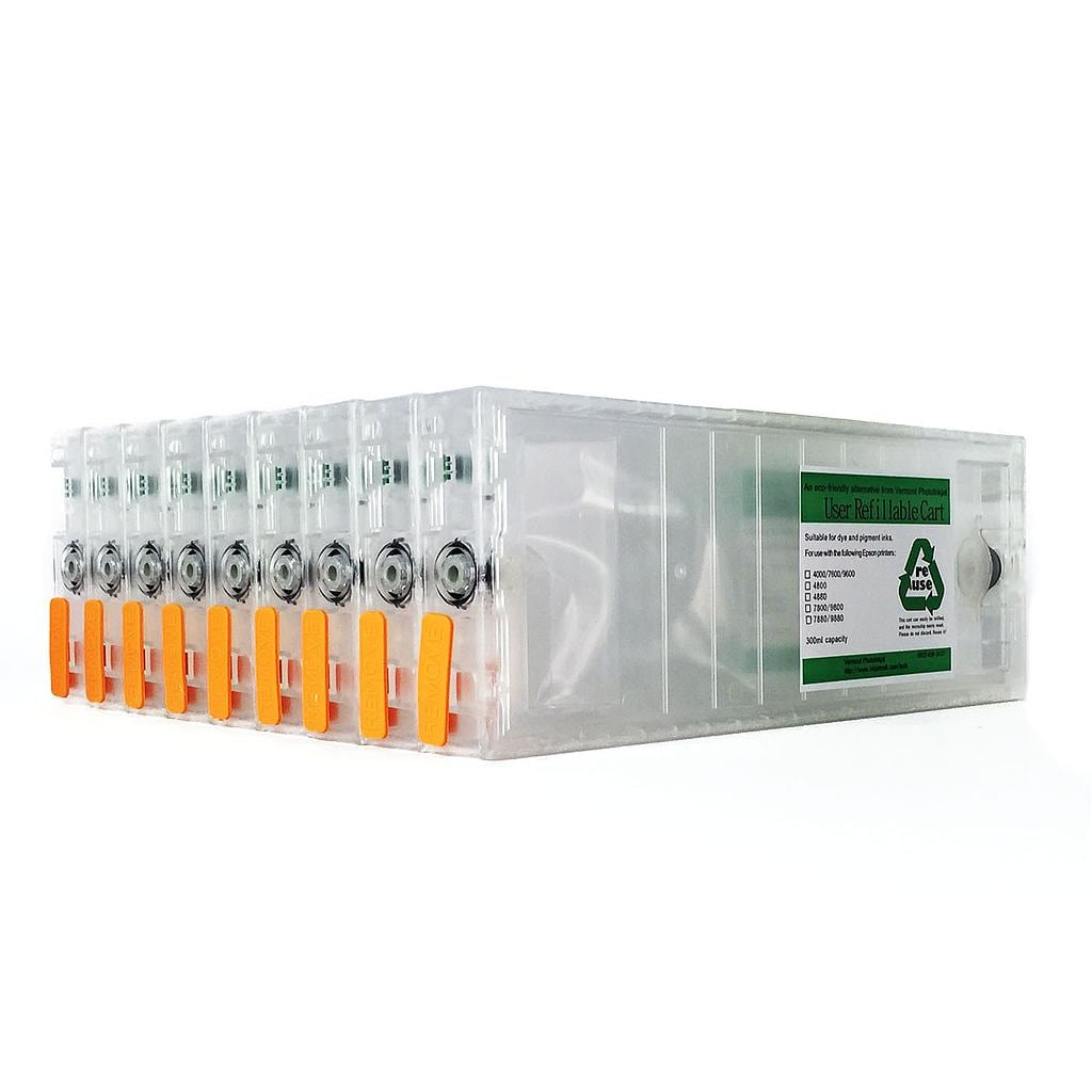 Refillable Cartridge Kit with Reset Chips - 7800, 9800 - Set 9