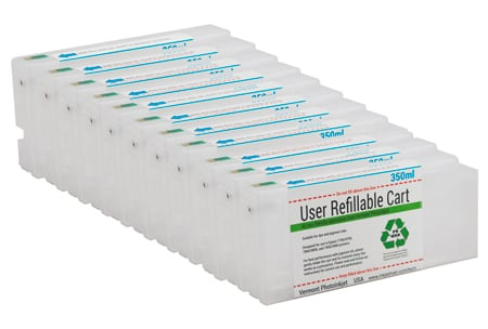 Refillable Cartridge Kit with Reset Chips - X900 Set 11