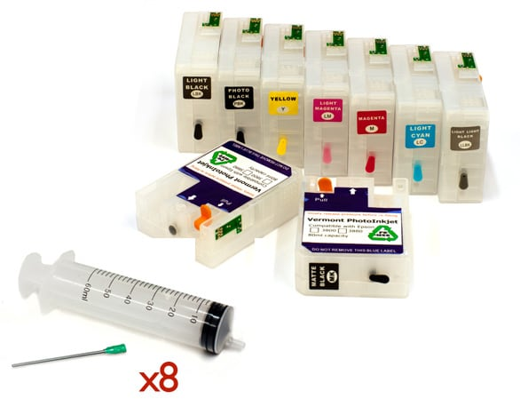 Refillable Cartridge Kit - Epson 3880- with syringes