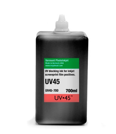 UV45 black inkjet film dye ink - 700ml bottle