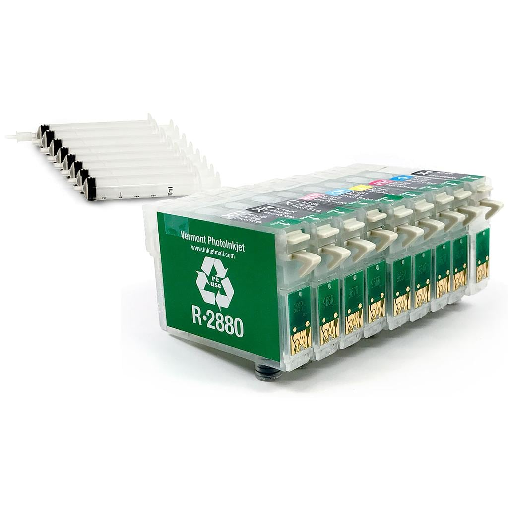 [RCS-R2880-SH-SET9] Refillable Cartridge - Epson R2880 - Set 9 with syringes