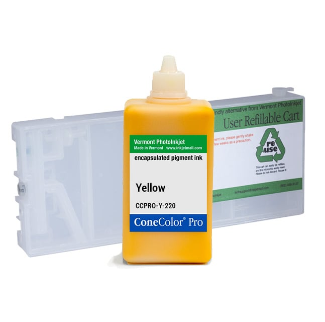 [CCP-4000-220-Y-KIT] ConeColor Pro, 4000 7600 9600, Refill Cartridge, 220ml Ink, Yellow