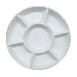 [ACC-7WELLPORCELAIN] 7 well porcelain dish palette with plastic lid