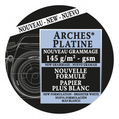 "[PS-ARCHES-PLAT145-1522] Arches Platine - 145gsm - 15""x22"" 25 sheets"