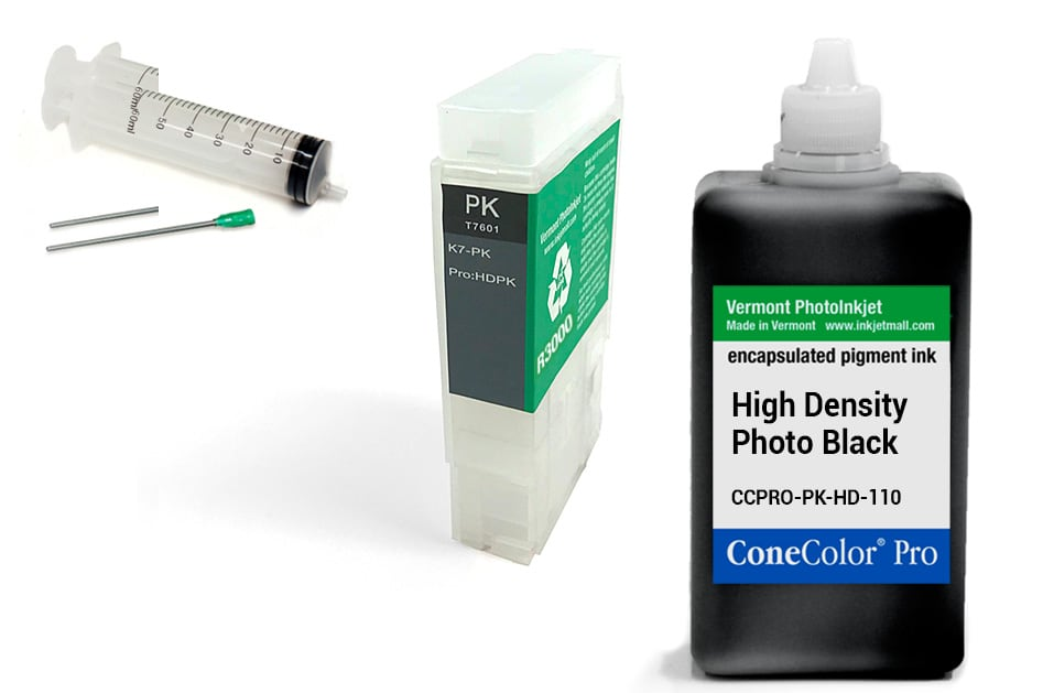 [CCP-R3000-V2-110-HDPK-KIT] ConeColor Pro 110ml Ink & R3000 Refillable Cartridge, HD Photo Black