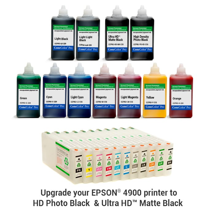 [CCP-4900-220-KIT11HD] Pro 4900 -  ConeColor Pro HD archival color ink system, 220ml