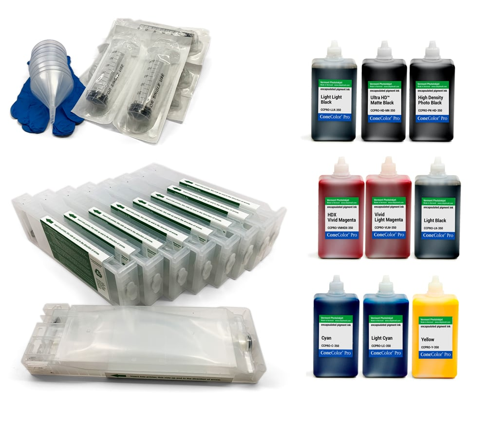 [CCPRO-SCX000-350-KIT9] ConeColor Pro 350ml Kit for EPSON SureColor P6000 and P8000