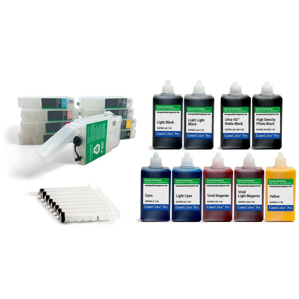 [CCP-P600-RCS-110-KIT9] ConeColor Pro HD archival color ink system for P600 printer, 110ml
