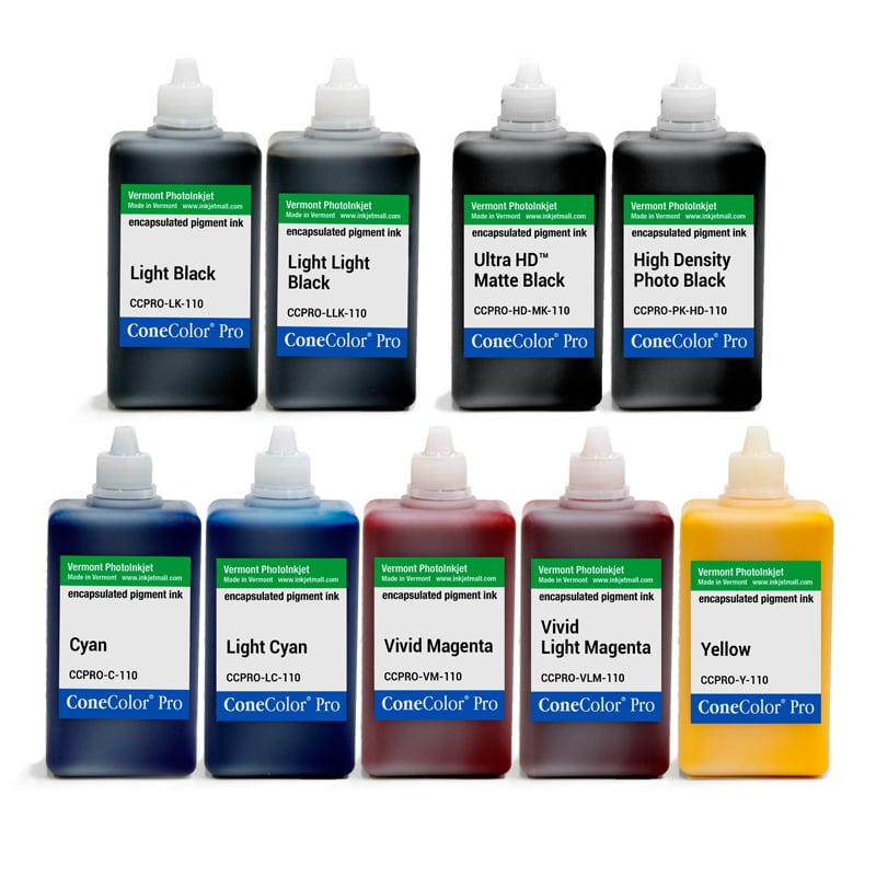[CCPRO-HD-110-SET9] ConeColor Pro HD, Set of 9 Inks, 110ml