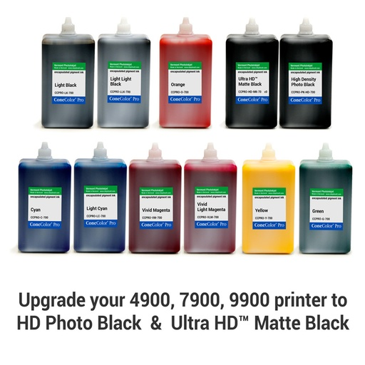 [CCPRO-HDR-HD-700-SET11] ConeColor Pro HDR, Set of 11 Inks, (HD Enhanced) 700ml for 4900, 7900, and 9900