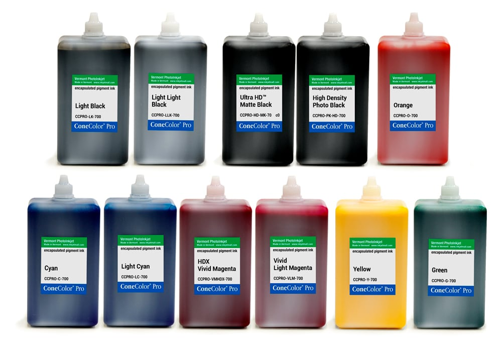 [CCPRO-HDX-700-SET11] ConeColor Pro HDX, Set of 11 Inks, 700ml