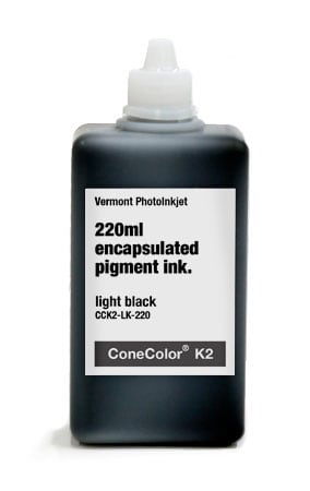 [CCK2-LK-220] ConeColor Pro ink 220ml - K2 version Light Black
