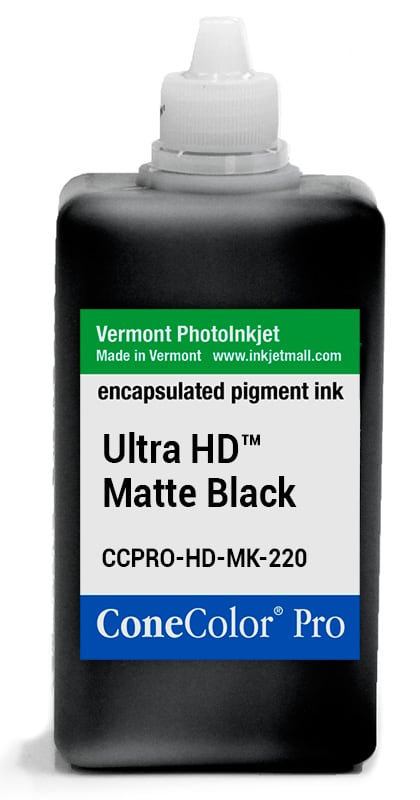 [CCPRO-HD-MK-220] ConeColor Pro ink, 220ml, UltraHD™ Matte Black