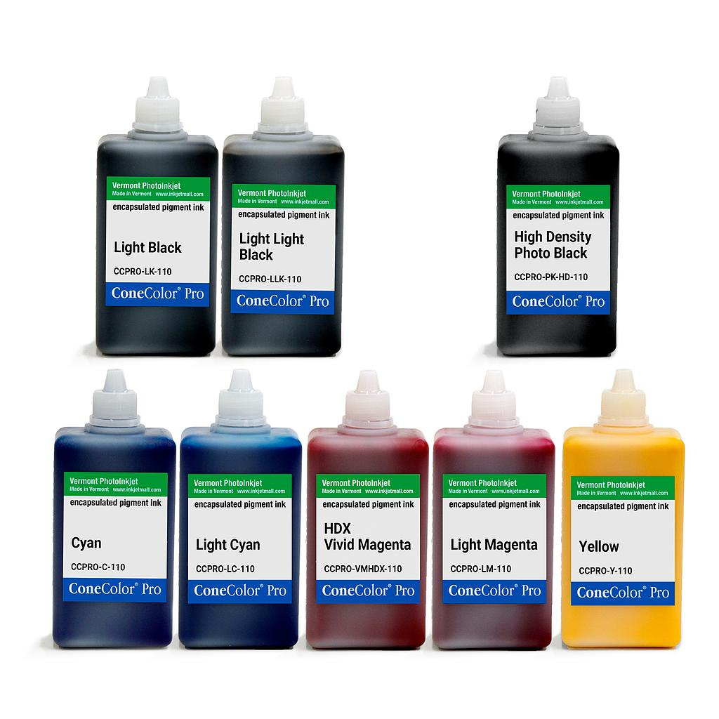 [CCPRO-K3-HD-110-SET8P] ConeColor Pro K3, Set of 8 Inks, (HD PK), 110ml