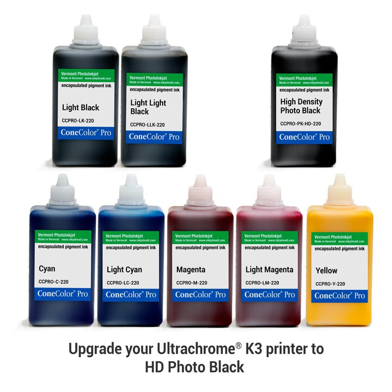 [CCPRO-K3-HD-220-SET8P] ConeColor Pro K3, Set of 8 Inks, (HD PK), 220ml