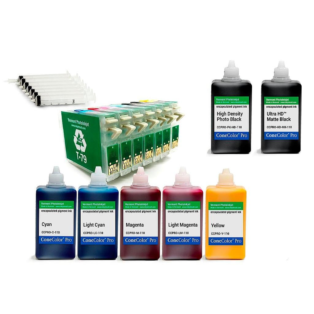 [CCPRO-1400-RCS-110] 1400, 1430, 1500W (T79 version) - ConeColor Pro Pigment HD Option 110ml Epson