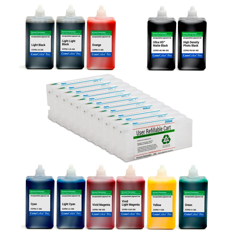 [CCP-HD-7900-350-350-KIT11] Pro 7900, 9900 - ConeColor Pro HD archival color ink system, 350ml