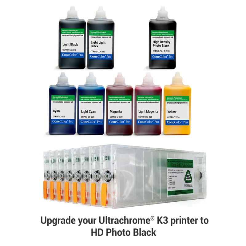 [CCP-HD-7800-220-KIT8P] ConeColor Pro, Set of 8 Inks with HD PK, for 7800 9800, 220ml