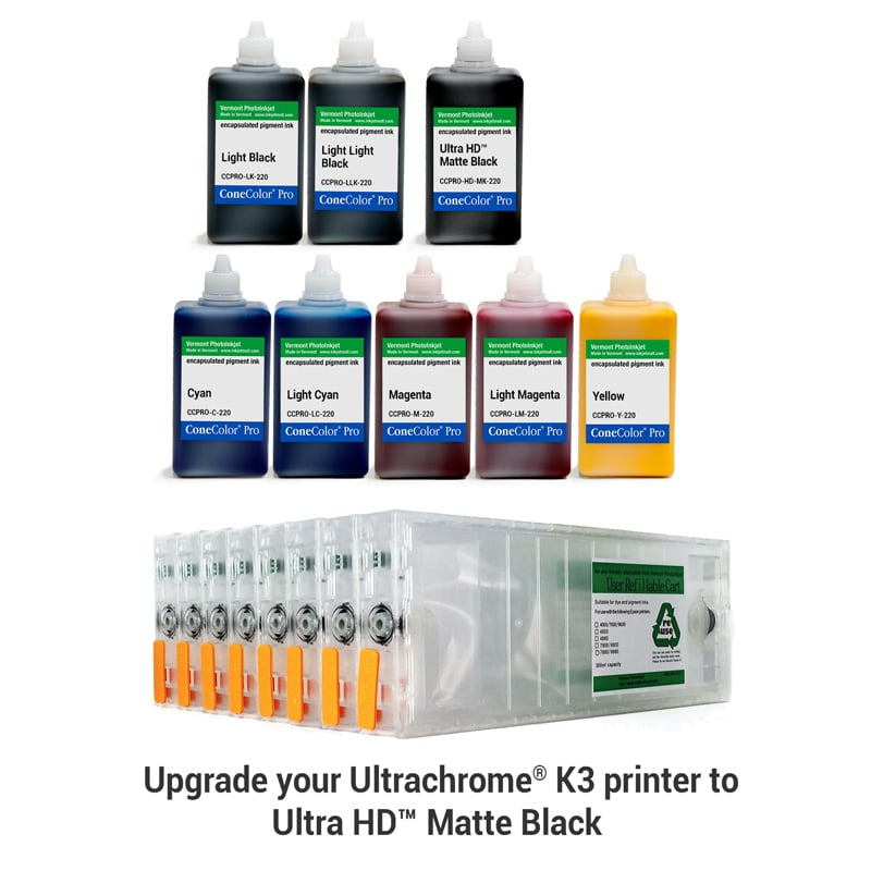 [CCP-HD-7800-220-KIT8M] ConeColor Pro, Set of 8 Inks with UltraHD™ MK, for 7800 9800, 220ml