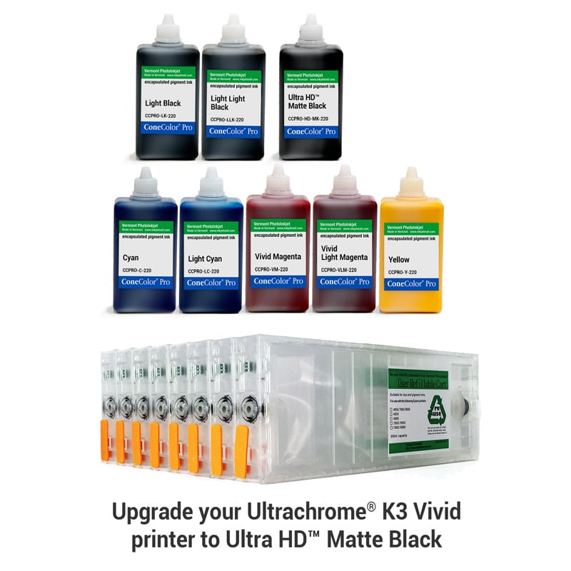 [CCP-HD-7880-220-KIT8M] ConeColor Pro, Set of 8 Inks with UltraHD™ MK, for 7880 9880, 220ml