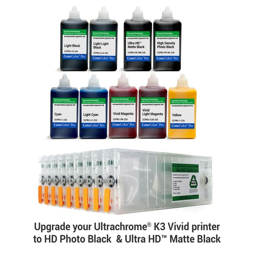[CCP-HD-7880-220-KIT9] Pro 7880, 9880 - ConeColor Pro HD archival color ink system, 220ml