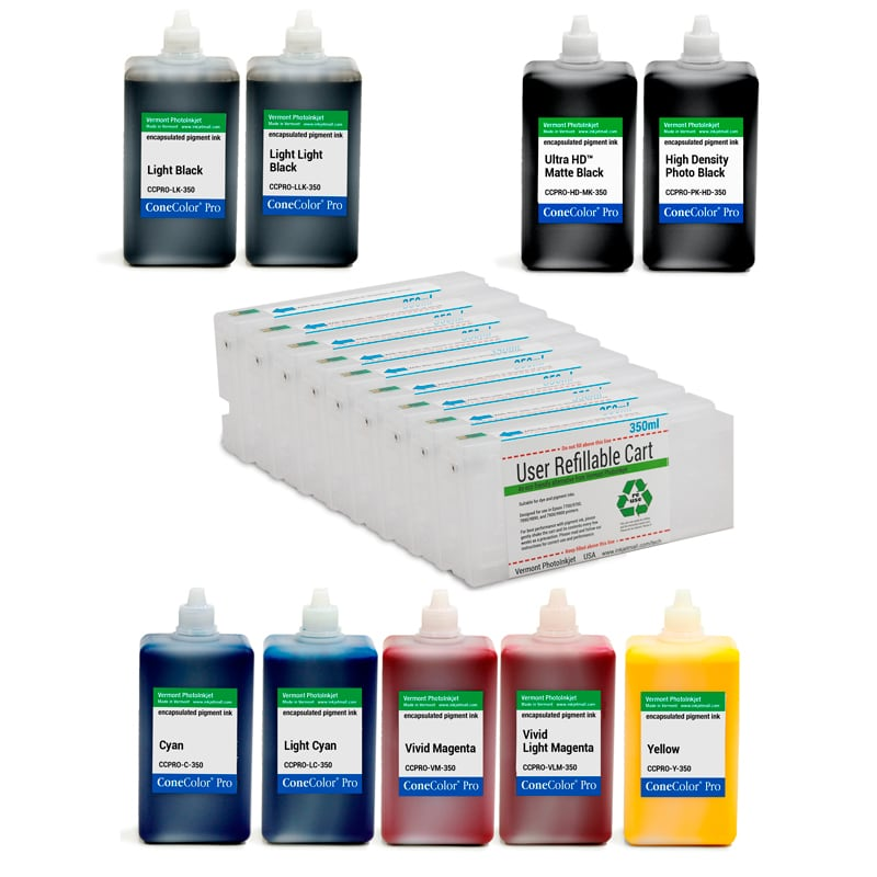[CCP-HD-7890-350-350-KIT9] Pro 7890, 9890 - ConeColor Pro HD archival color ink system, 350ml