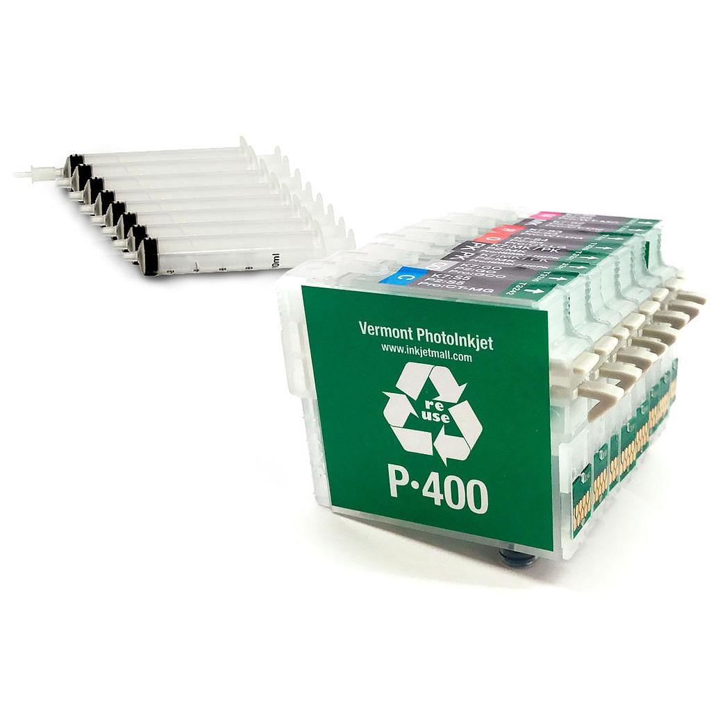 [RCS-P400-SH-SET9] Refillable Cartridge - Epson P400 - Set 9 with syringes