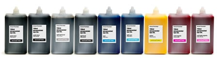 [ITPRO-700-SET9] InkThrift Pro dye ink, 700ml bottles, Set of 9 colors